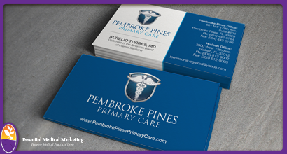 Pembroke Pines Primary Care Business Cards