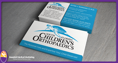 South Florida Children's Orthopaedics Business Cards
