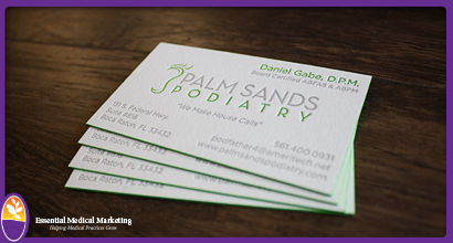 Palm Sands Podiatry Business Cards